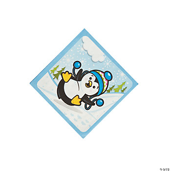 Penguin Party Beverage Napkins
