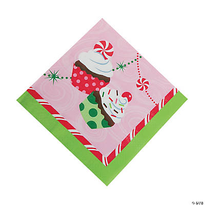 Christmas Cupcake Luncheon Napkins