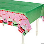 Christmas Cupcake Table Cover