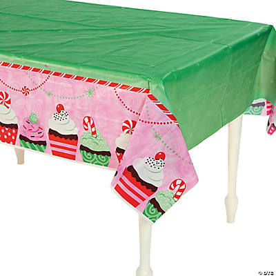 Christmas Cupcake Tablecloth
