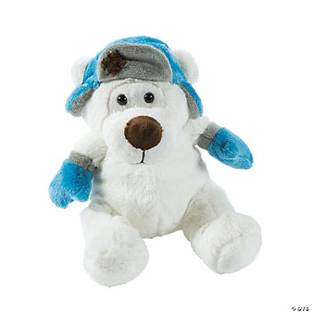 Plush Polar Bear With Hat