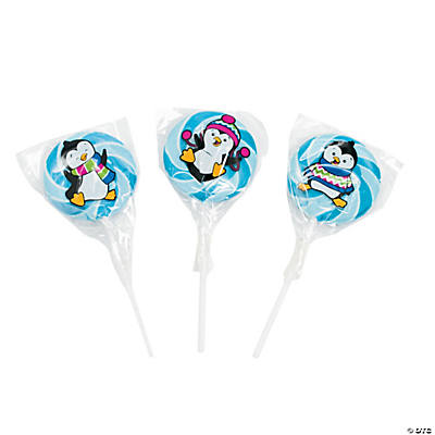 Winter Penguin Swirl Pops