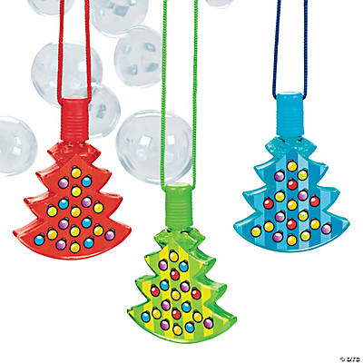 Christmas Tree Bubble Bottle Necklaces