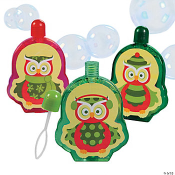 Christmas Owl Bubble Bottles