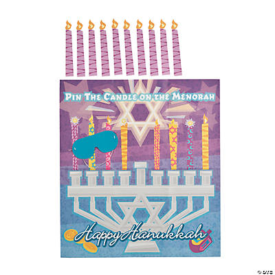 """Pin the Candle on the Menorah"" Game"