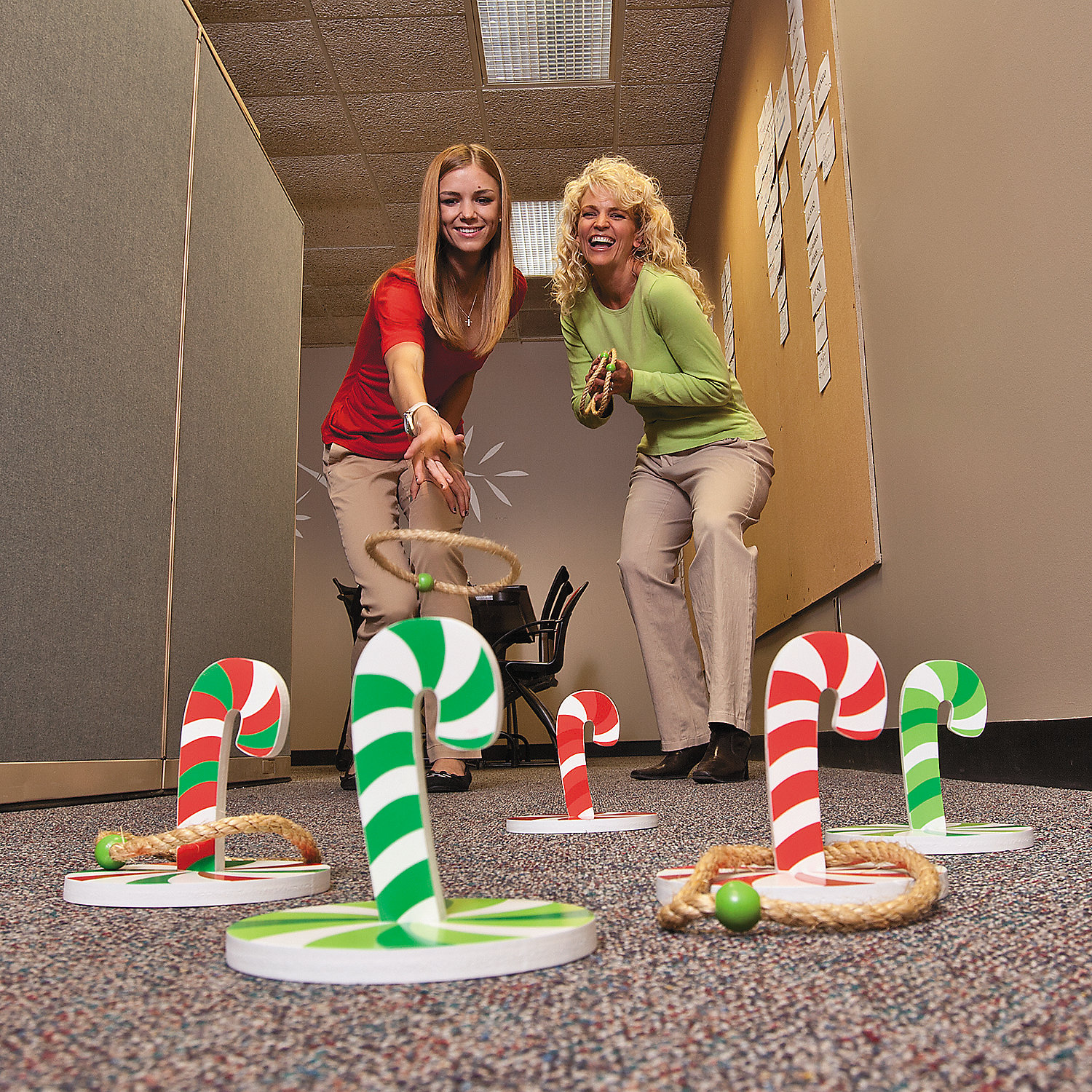 Top 10 Christmas Party Games: Candy Cane Ring Toss Game