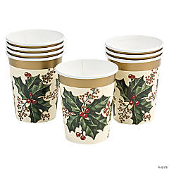Holly Winter Cups