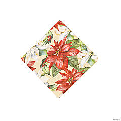 Poinsettia Beverage Napkins