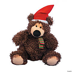 Plush Brown Christmas Bear