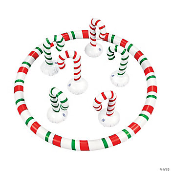 Inflatable Candy Cane Toss Game