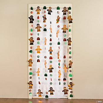 Foil Gingerbread Door Curtain