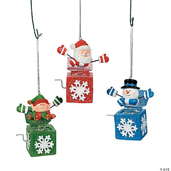 Jack-In-The-Box Character Ornaments