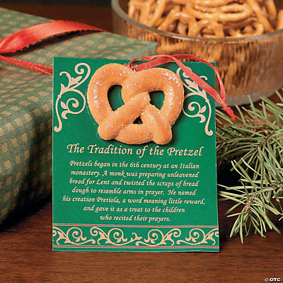 """Tradition of the Pretzel"" Ornaments on Card"