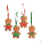 Big Head Gingerbread Christmas Ornaments