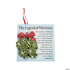 Mistletoe Christmas Ornaments with Card