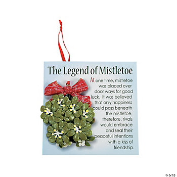 Mistletoe Ornaments with Card