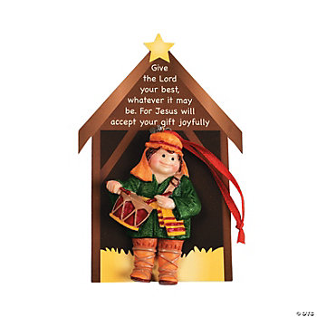 Resin little drummer boy christmas ornaments