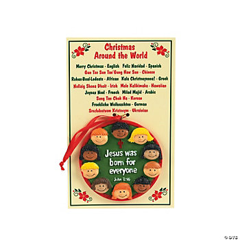 """Christmas Around The World"" Ornaments With Card"