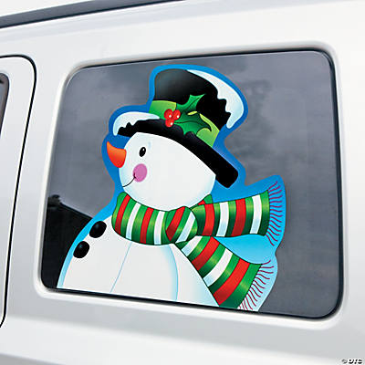 Snowman Head Car Cling