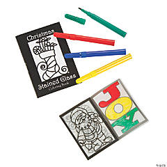 Stained Glass Christmas Coloring Books With Markers