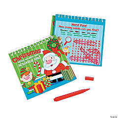 Christmas Dry Erase Activity Books With Markers