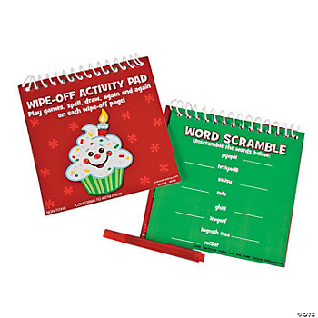 """Happy Birthday Jesus!"" Wipe-Off Activity Pads"