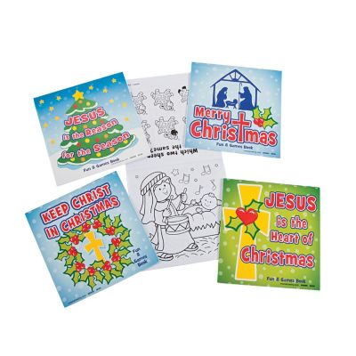 Christian Christmas games and activity books set