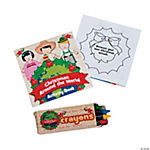 World Christmas Activity Pads With Crayons