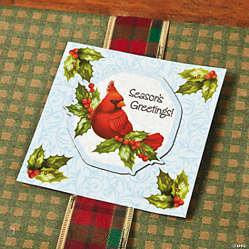 Cardinal Magnets on Holly Cards