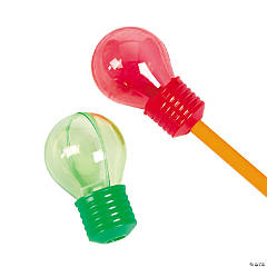 Christmas Lightbulb-Shaped Pencil Sharpeners