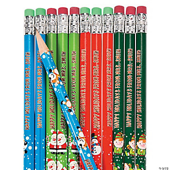 Personalized Christmas Pencils