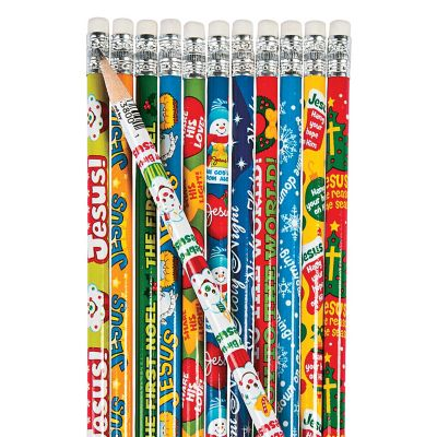 bundle Christian Christmas pencils