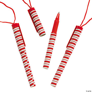 Candy Cane Pens On A Rope