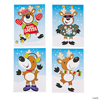 Make-A-Reindeer Sticker Scenes