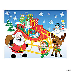 Fill Santa's Sleigh Make-A-Sticker Scenes