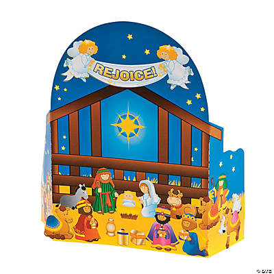 Nativity Advent Calendar Sticker Scene