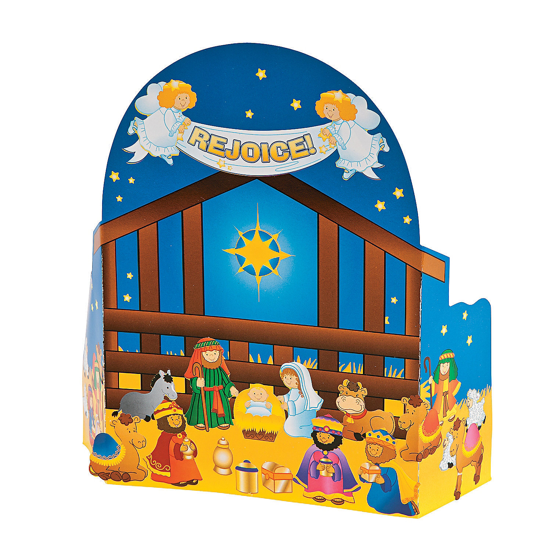 Kids Calendar With Activity Stickers : Nativity advent calendar sticker scene oriental trading