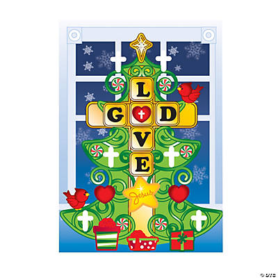 Christmas Tree Cross Sticker Scenes