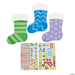 Religious Christmas Stocking Sticker Scenes