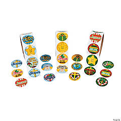 Christmas Religious Rolls of Stickers Assortment