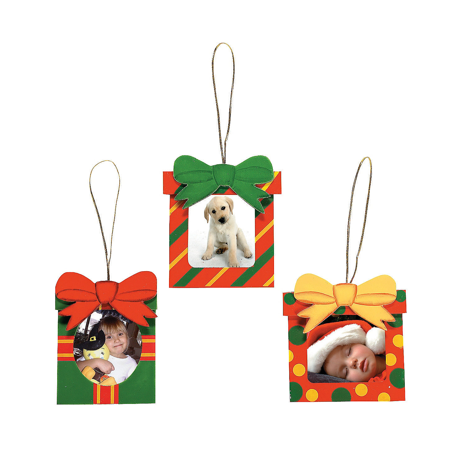 Christmas gift picture frame ornaments