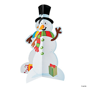 3D Snowmen & Stickers