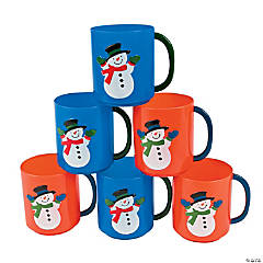 Winter Snowman Mugs