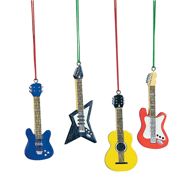 Rock N Roll Christmas Tree: Guitar Christmas Ornaments