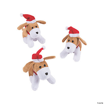 Plush Christmas Bean Bag Dogs