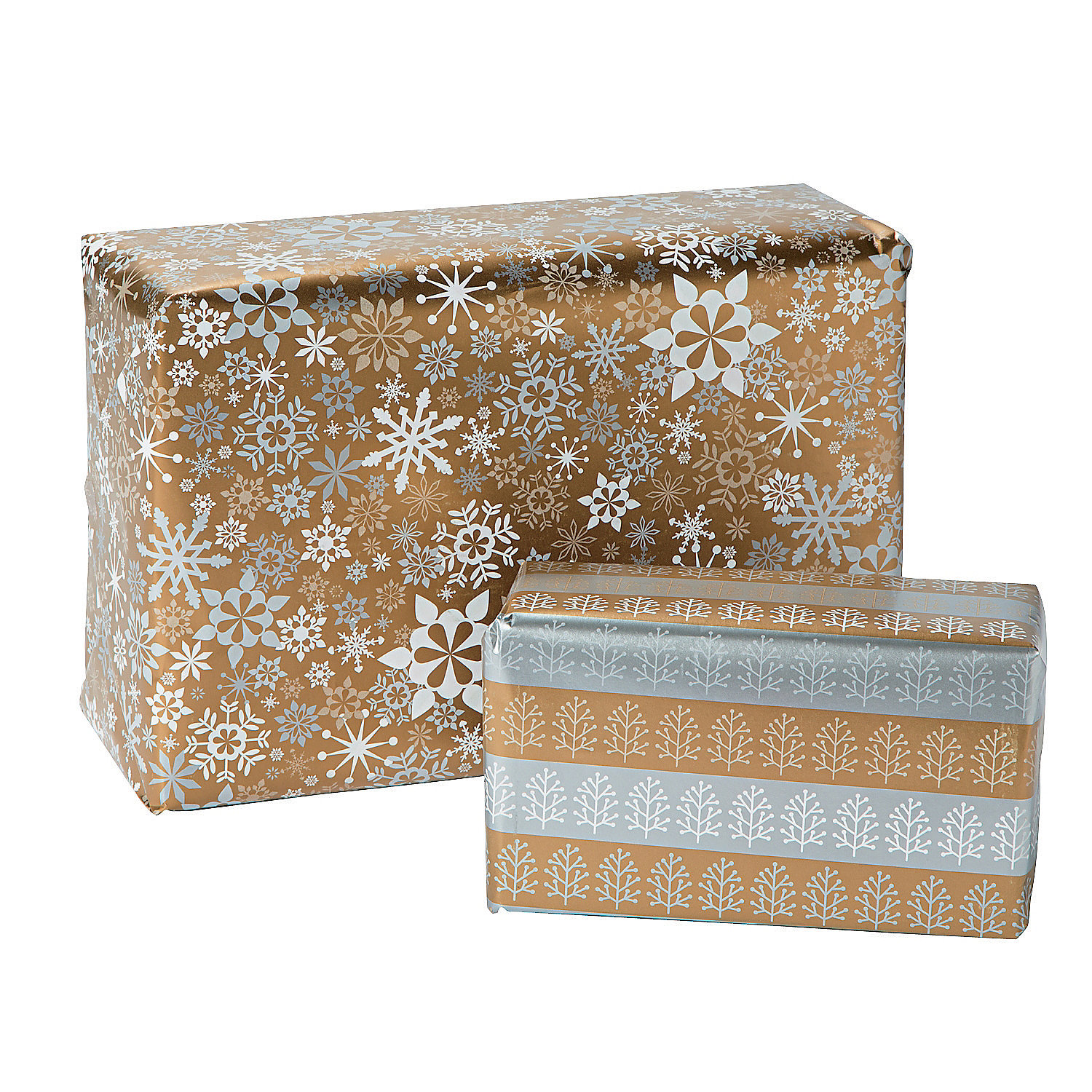 Metallic Christmas Wrapping Paper - Oriental Trading