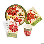 Poinsettia Tableware & Invitations