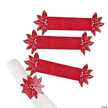 Poinsettia Napkin Rings