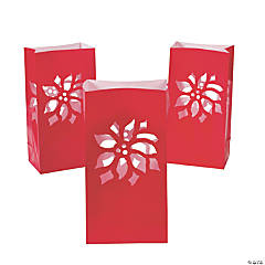 Poinsettia Luminary Bags