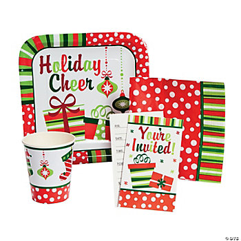 Bright Christmas Tableware & Invitations